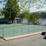 graded tennis court