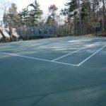 tennis court construction latham