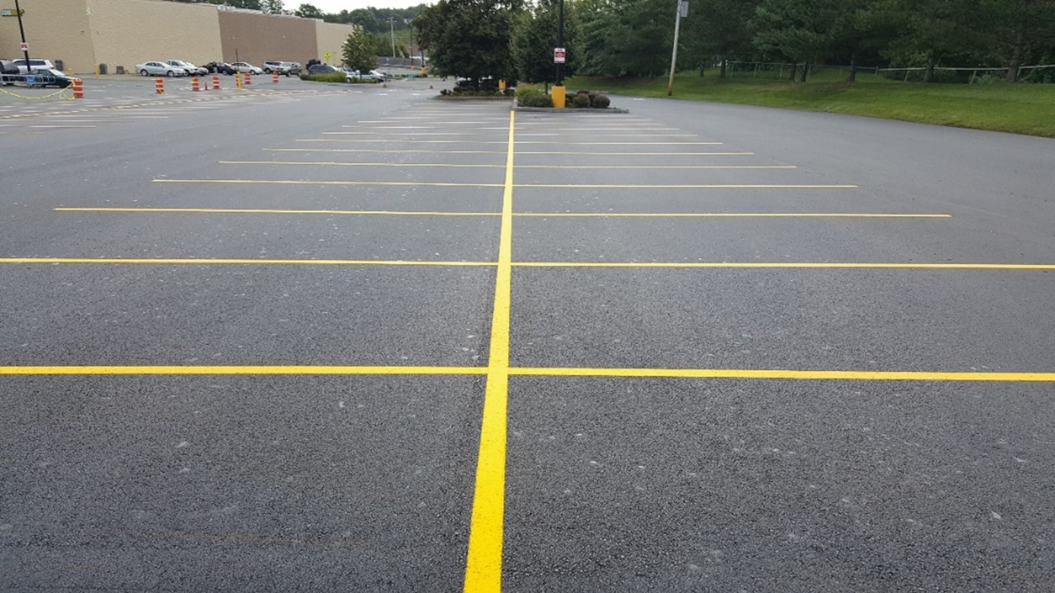 Parking lot paving with HMA Paving and Contracting