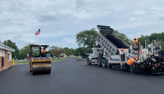 Asphalt paving with HMA Paving and Contracting
