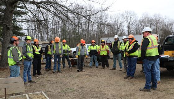 training day with HMA Paving & Contracting