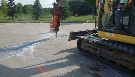 Commercial paving project at Walmart in Amsterdam, NY